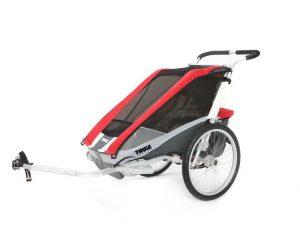 remolque thule chariot cougart1 e1532683646900 300x226 Cómo transportar a un bebé en bicicleta